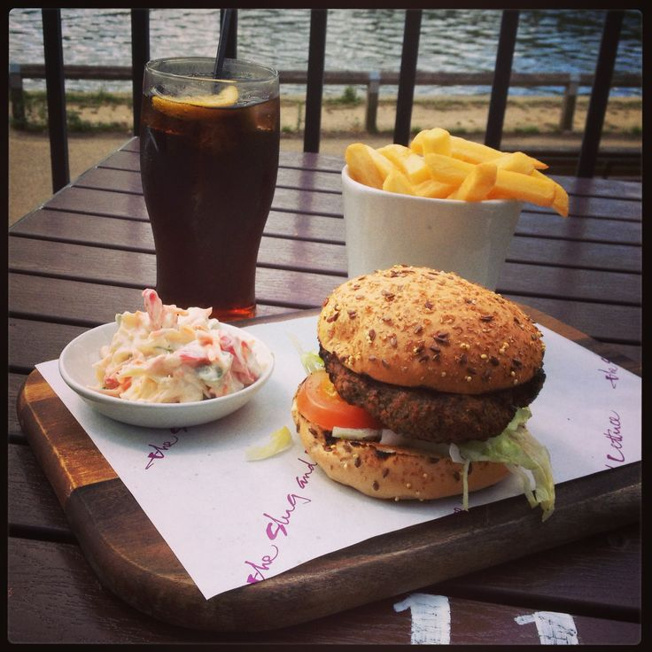 New Zealand burger at The slug and lettuce