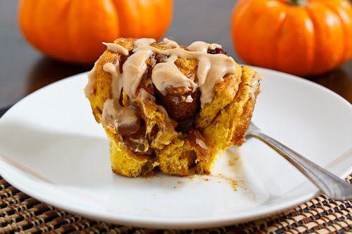 Pumpkin Pie Cinnamon Buns with Caramel Cream Cheese Frosting   Recipe