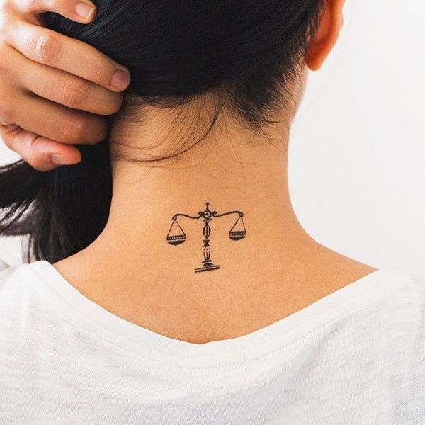 Girly libra symbol tattoo