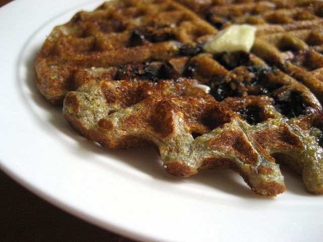 Blueberry Cornmeal Waffles. | Food ~ I will cook for... | Pinterest