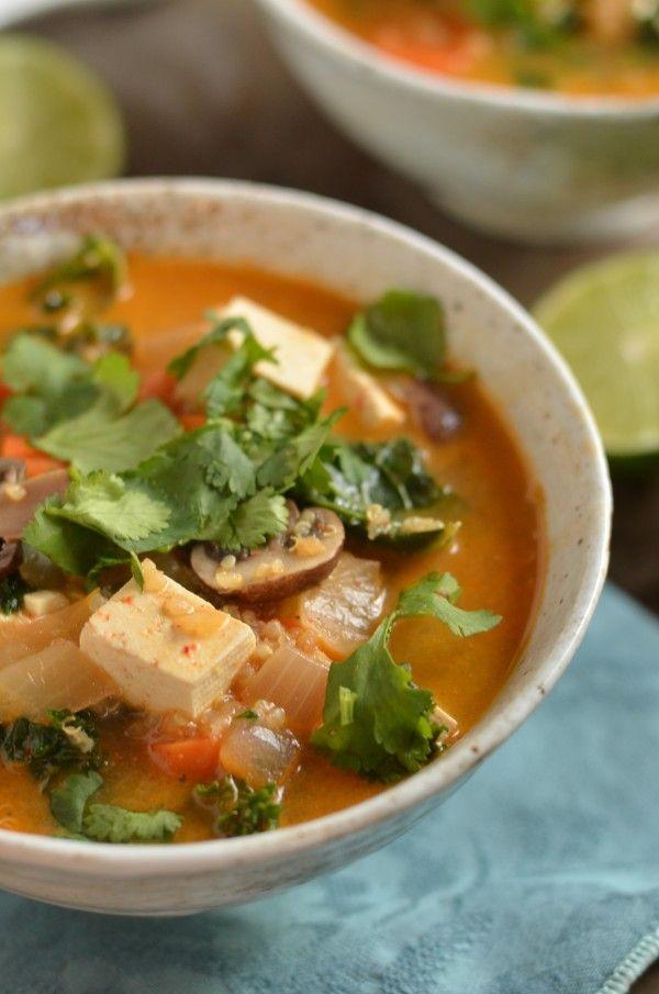 Thai Red Curry Quinoa Soup | Soup | Pinterest