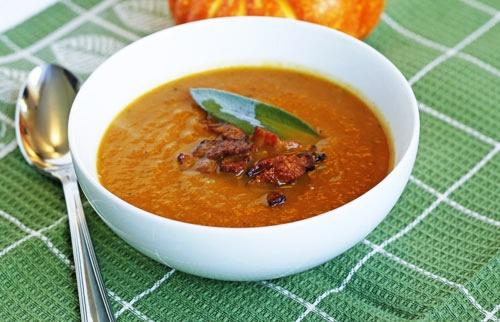 look yummy? Butternut Squash & Pumpkin Soup. I make mine thai style ...