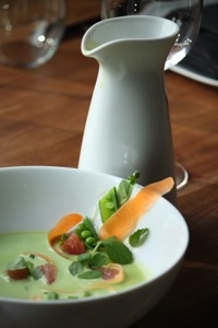 Sweet Pea Soup, Mint, Grapefruit, Ginger | Foodie Me | Pinterest