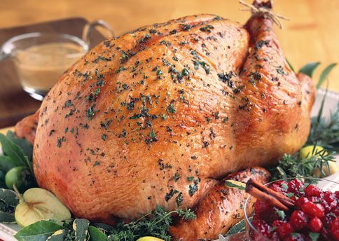 Herb-Roasted Turkey with Apple Cider Gravy http://www.bonappetit.com ...