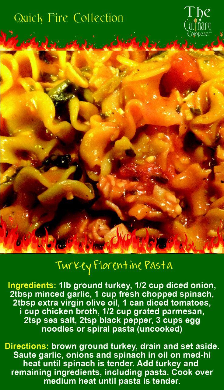 Turkey Florentine Pasta | The Best of Pinterest Food & Drink | Pinter ...
