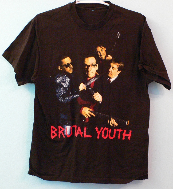 Vintage elvis costello t shirt for Best selling t shirts on etsy
