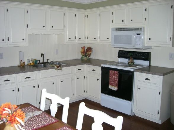 Kitchen Cabinet Update 70 39 S Cabinets Get Picture Trim And Painted
