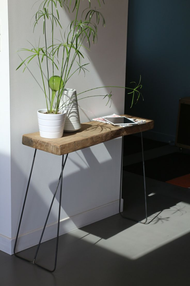 Pinterest discover and save creative ideas for Table bois metal rallonge