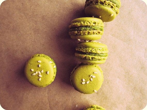 Sounds interesting! Honey Sesame Pistachio French Macaron by ...