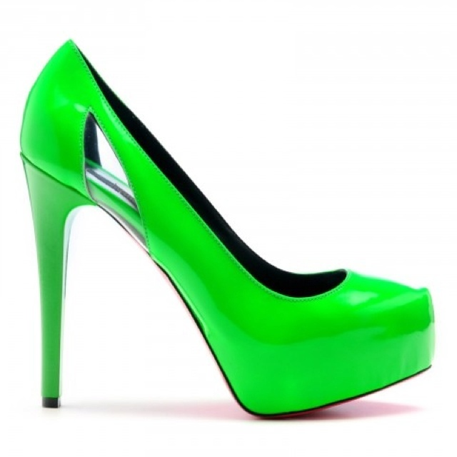 Lime green heels | Heels | Pinterest
