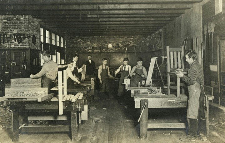Old high school woodworking shop | History of Woodworking | Pinterest