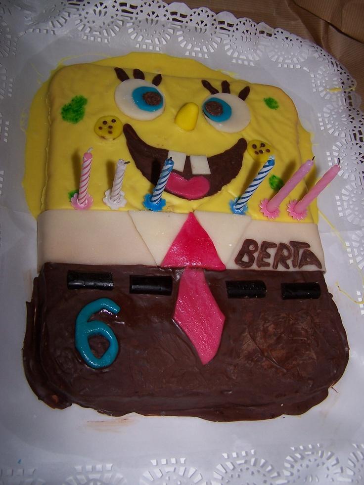 Pastel de cumpleaños Bob Esponja