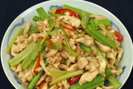Stir-fry Chicken with Chinese Celery | fooood. | Pinterest
