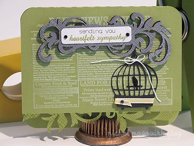 Love this card by Nichol Magouirk and her combination of shapes and stamping!