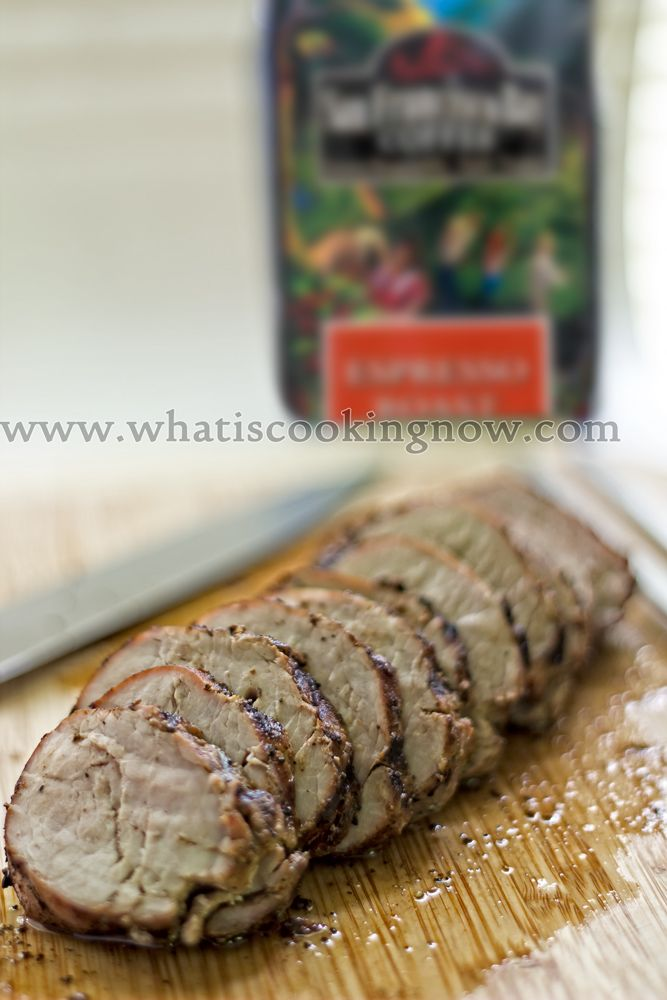 Pork tenderloin with espresso rub giveaway for 4 bags of coffee