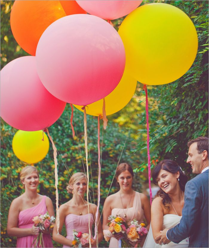 colorful balloons wedding ceremony