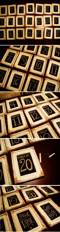 chalkboard table numbers ~ chalkboard table numbers  wedding ideas  pinterest