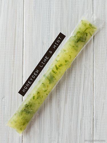 Honeydew Lime & Mint Rainbow Whole-Fruit Ice PopsINGREDIENTS 1/3 ...