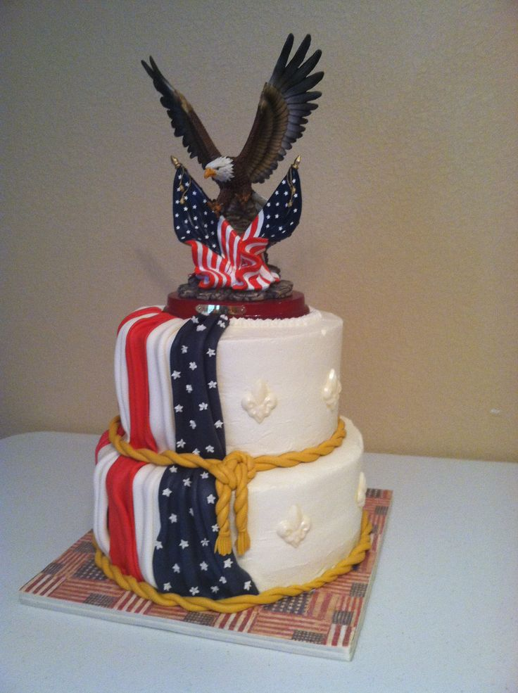 American flag cake | wedding ideas | Pinterest