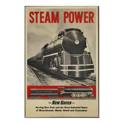 Steam Train Vintage Tr... Vintage Train Poster