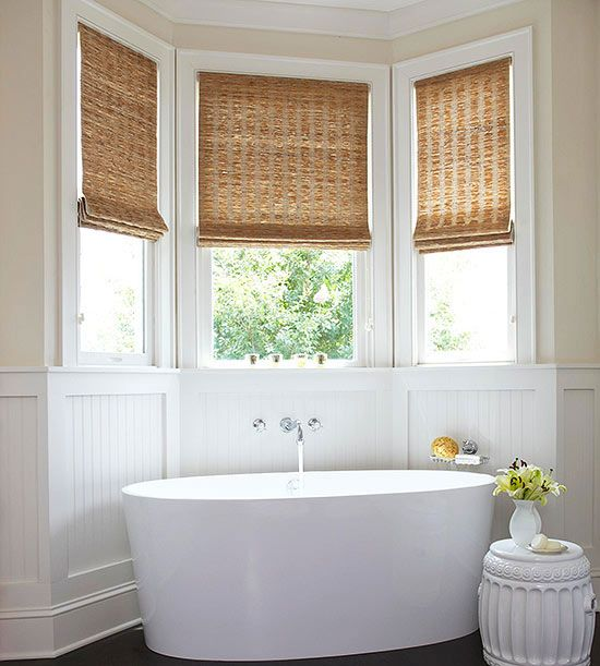 15 bathroom window treatment ideas for Bathroom window coverings designs