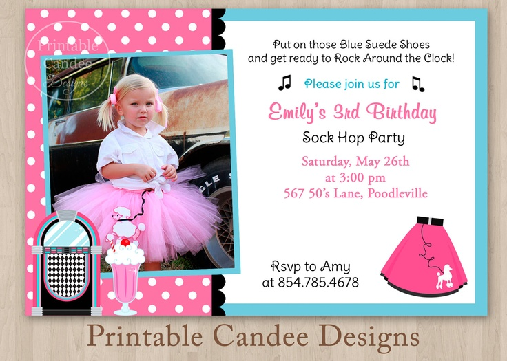 Sock hop birthday party google search blue instead of pink leather