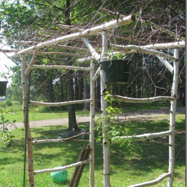 Rustic garden arbor outdoor ideas Pinterest