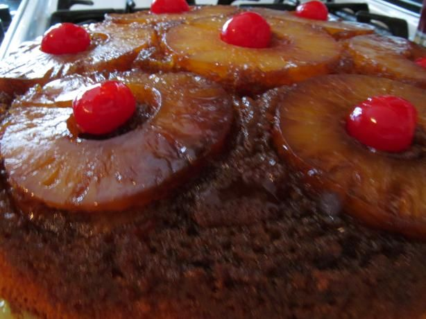 Pineapple Upside-Down Cake in Iron Skillet | Recipe