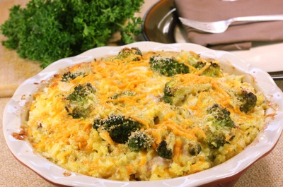 ... Cheddar Casserole A lightened up version of the classic Chicken Divan