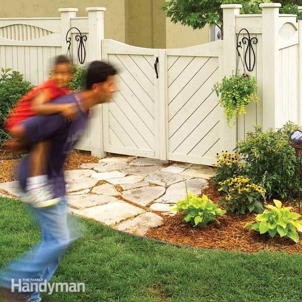 Construct A Custom Fence And Gate Step By Step The Family Handyman