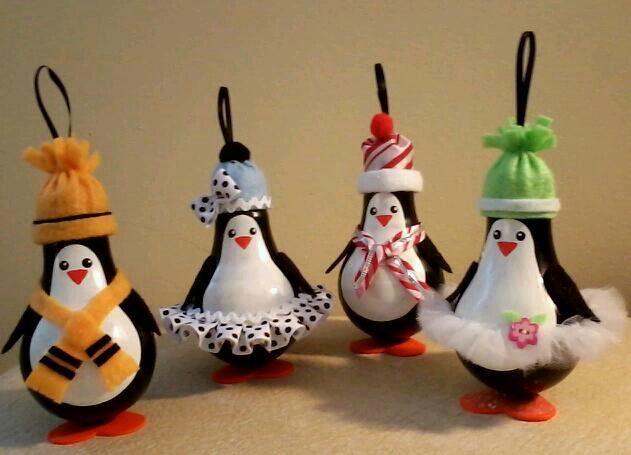 Поделка пингвины из лампочки своими руками