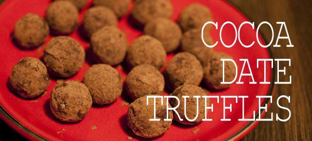 date truffles raw cocoa | sitno seckano | Pinterest
