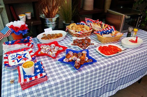 4th july birthday party food