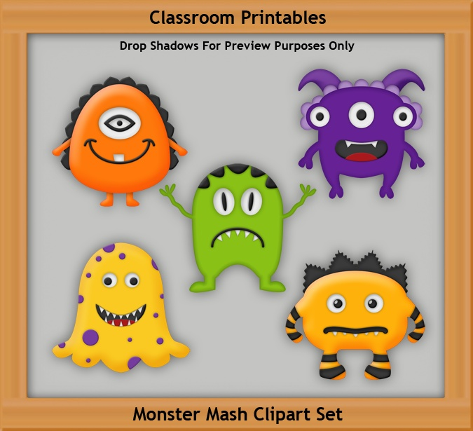 Monster Mash Clipart Set | Clipart | Pinterest