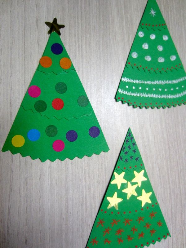 Decorate Christmas Tree On Paper : Christmas tree paper to decorate trees diy