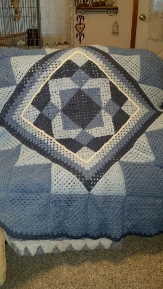 Crochet Quilt : crochet quilt pattern by Ken Jones Crochet Pinterest
