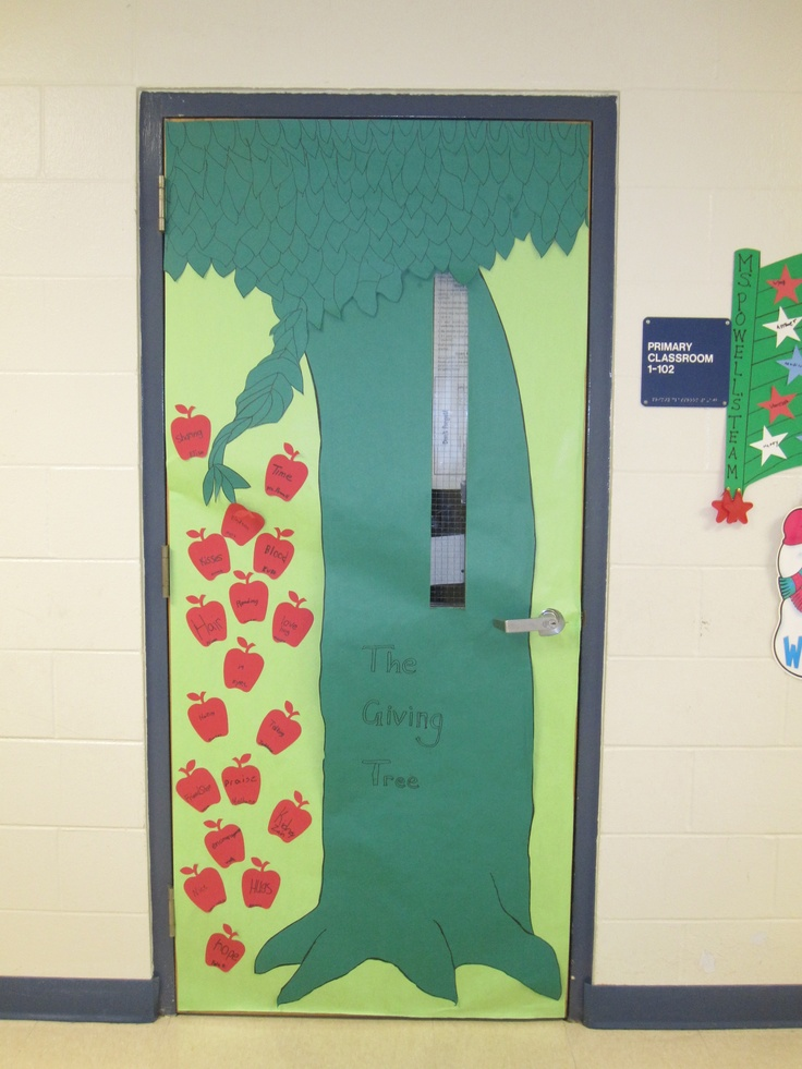 Classroom Giving Tree Ideas ~ The giving tree classroom door literacy lessons