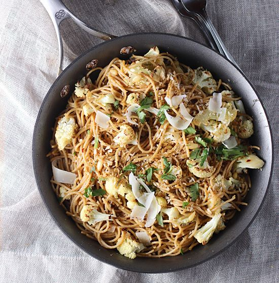 ... Whole-Wheat Pasta with Roasted Cauliflower, Brown Butter and Garlic