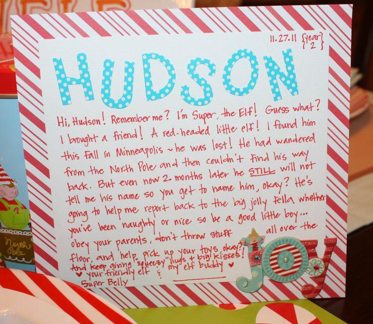 Welcome elf letter   Christmas   Pinterest