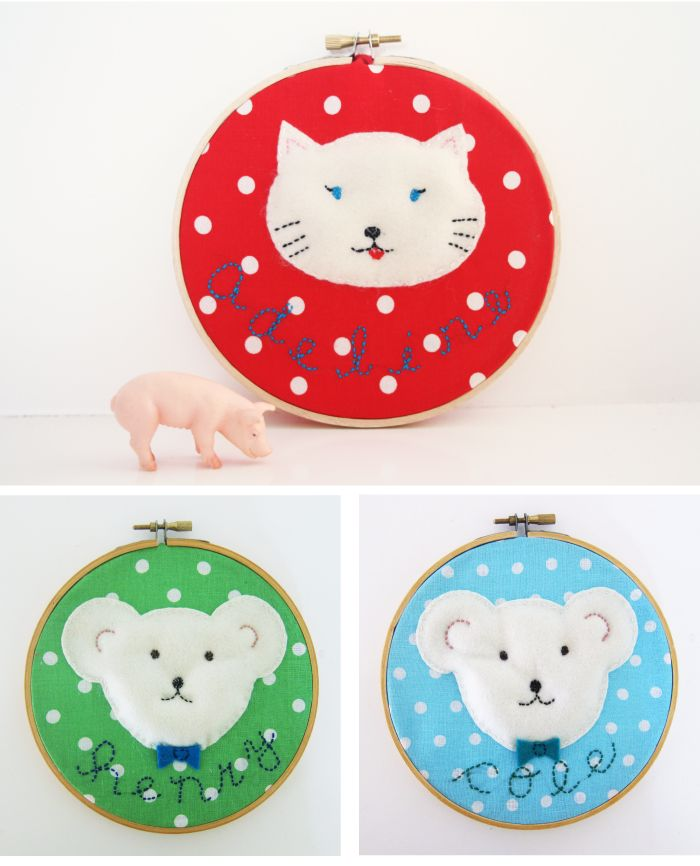 Embroidery Hoop Art With Tutorial  Crafts  Pinterest