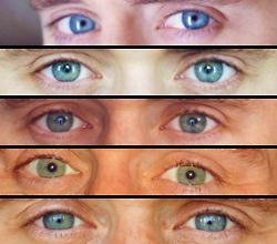 Beautiful, changeable eyes.