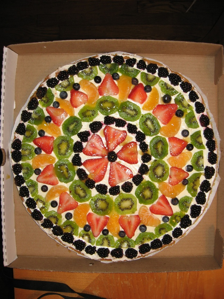 Fruit Pizza. I really just want to create a fruit design. :P @Corinne ...