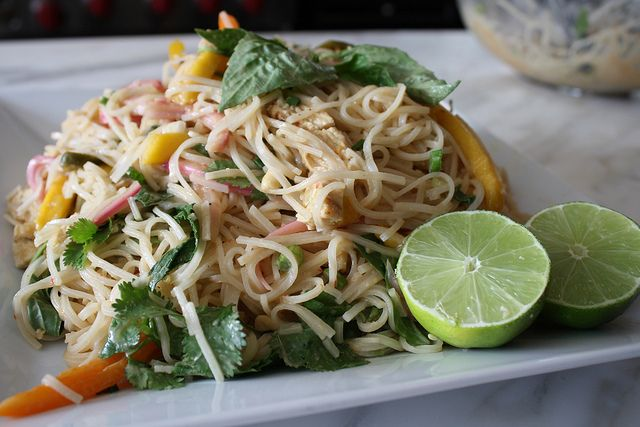 Spicy Asian Rice Noodle Salad with Grilled Lemongrass Chicken by ...