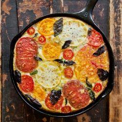 Heirloom Tomato, Andouille Sausage, Fresh Basil & Fontina Frittata ...