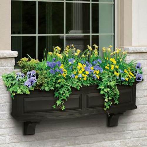 Flower window garden box design outdoors pinterest for Window garden designs