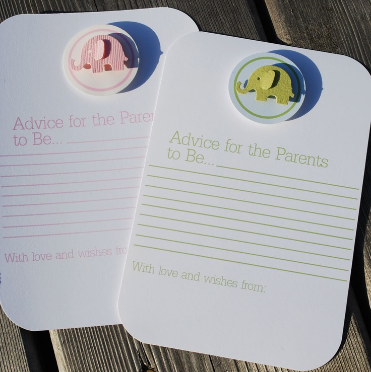 baby shower advice cards theme baby shower pinterest