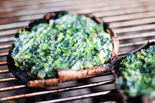 Grilling: Spinach and Cheese Stuffed Portobellos | Recipe