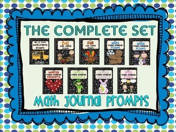This download contains all nine of my math journal prompt sets {270 prompts} to use throughout the school year.