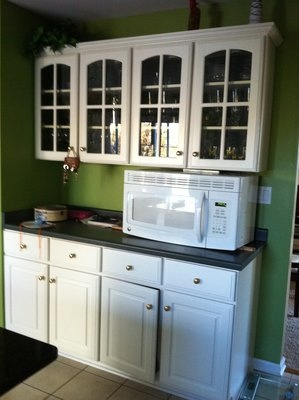 upper cabinets ~ laundry room