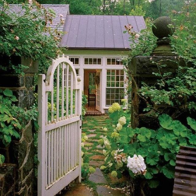 Small Backyard Getaways : Backyard garden getaway  Roses In The Garden  Pinterest